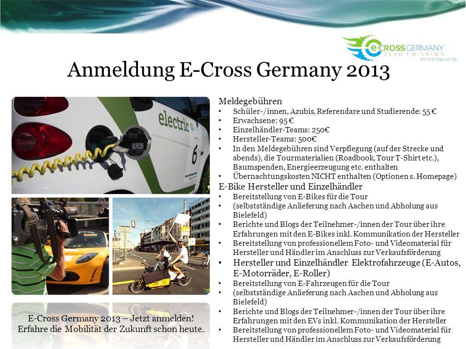 Anmeldung E-Cross Germany 2013