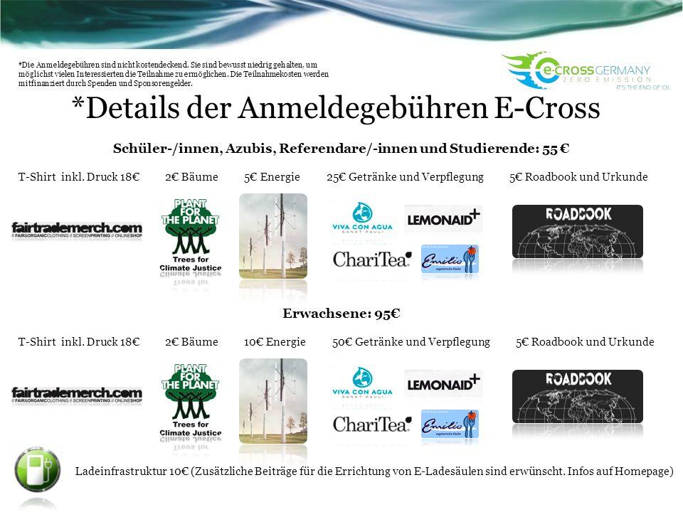 *Details der Anmeldegebühren E-Cross