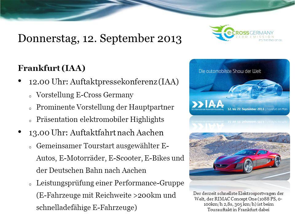 Donnerstag, 12. September 2013 Frankfurt (IAA)