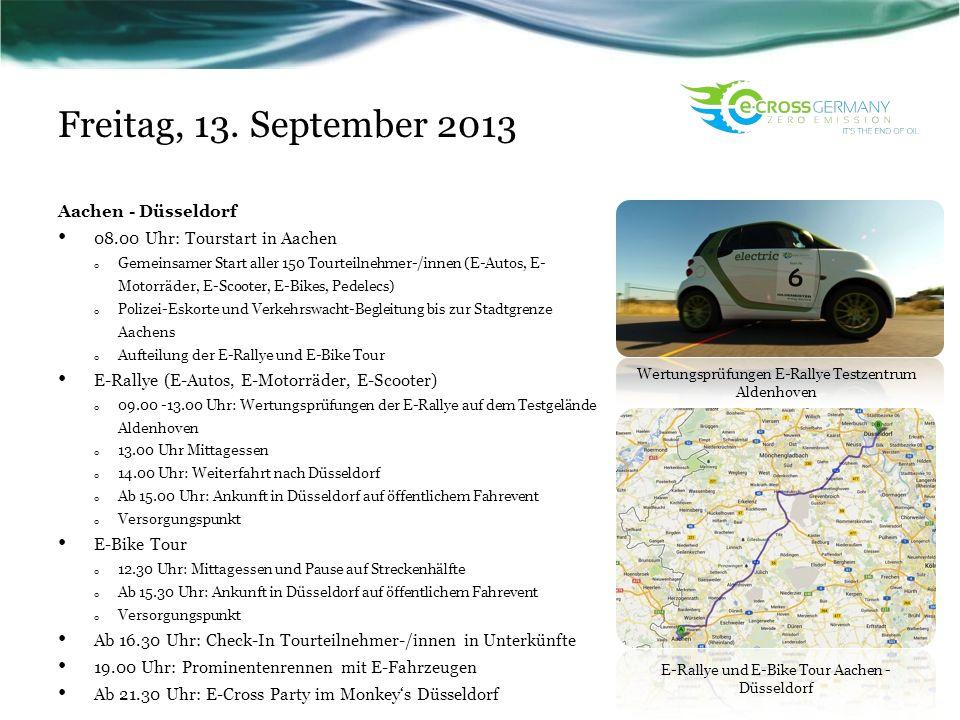 Freitag, 13. September 2013 Aachen - Düsseldorf
