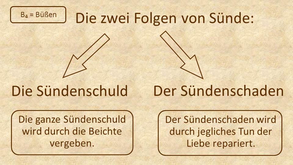 Die zwei Folgen von Sünde: