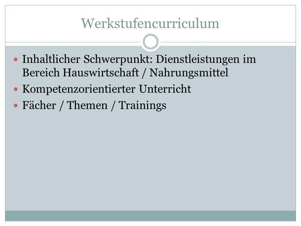 Werkstufencurriculum