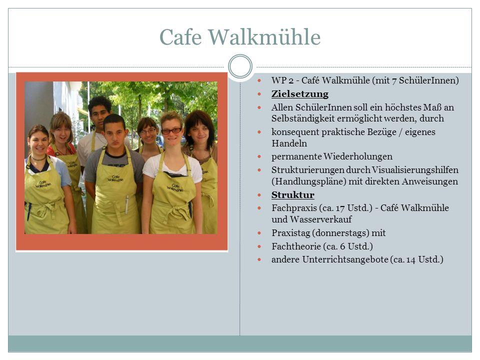 Cafe Walkmühle WP 2 - Café Walkmühle (mit 7 SchülerInnen) Zielsetzung