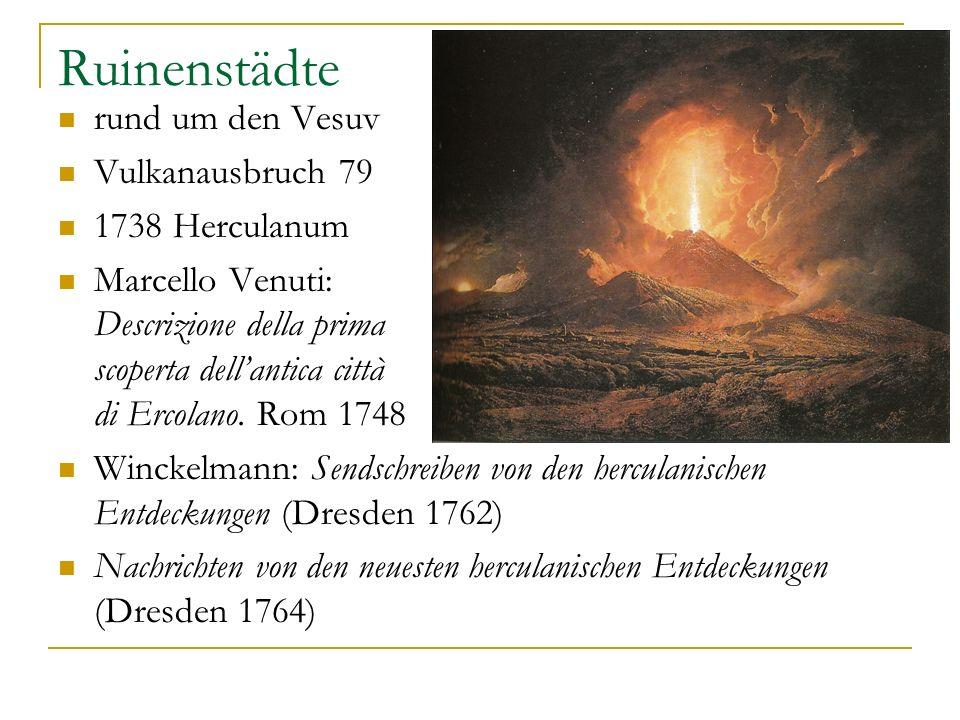 Ruinenstädte rund um den Vesuv Vulkanausbruch 79 1738 Herculanum
