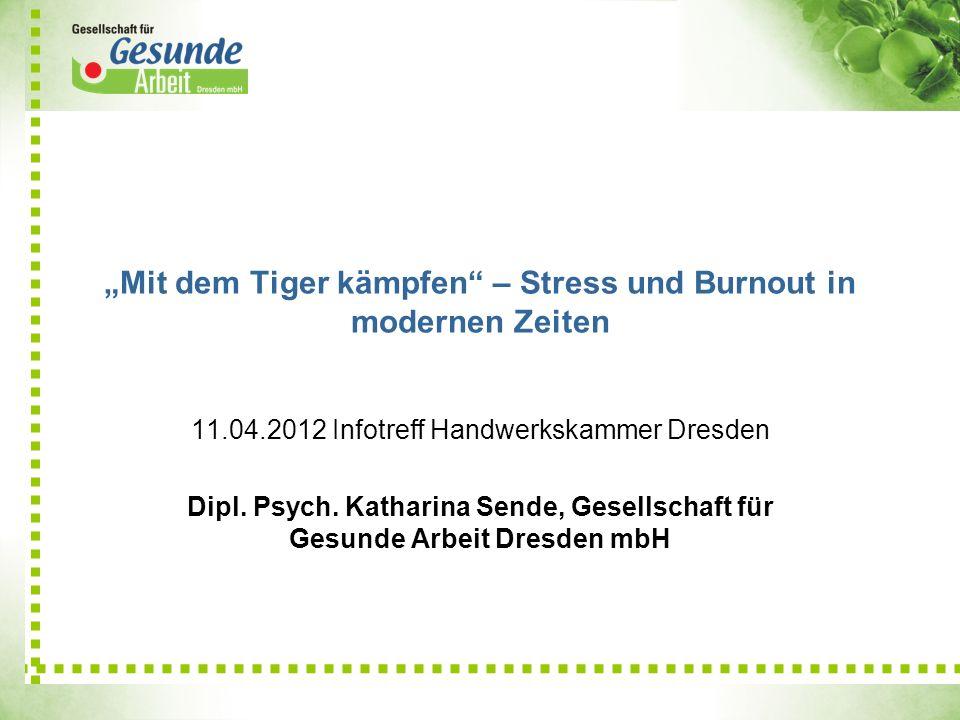 """""""Mit dem Tiger kämpfen – Stress und Burnout in modernen Zeiten"""