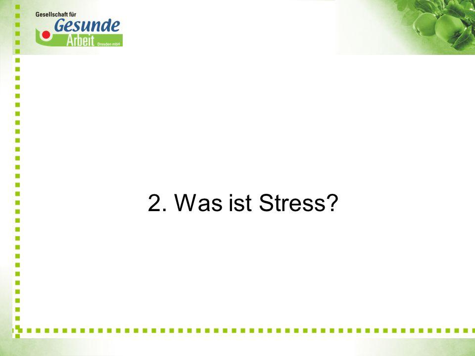 2. Was ist Stress