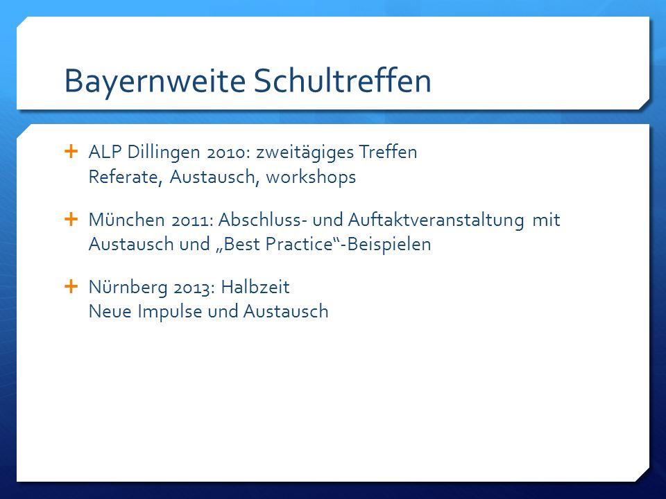 Bayernweite Schultreffen