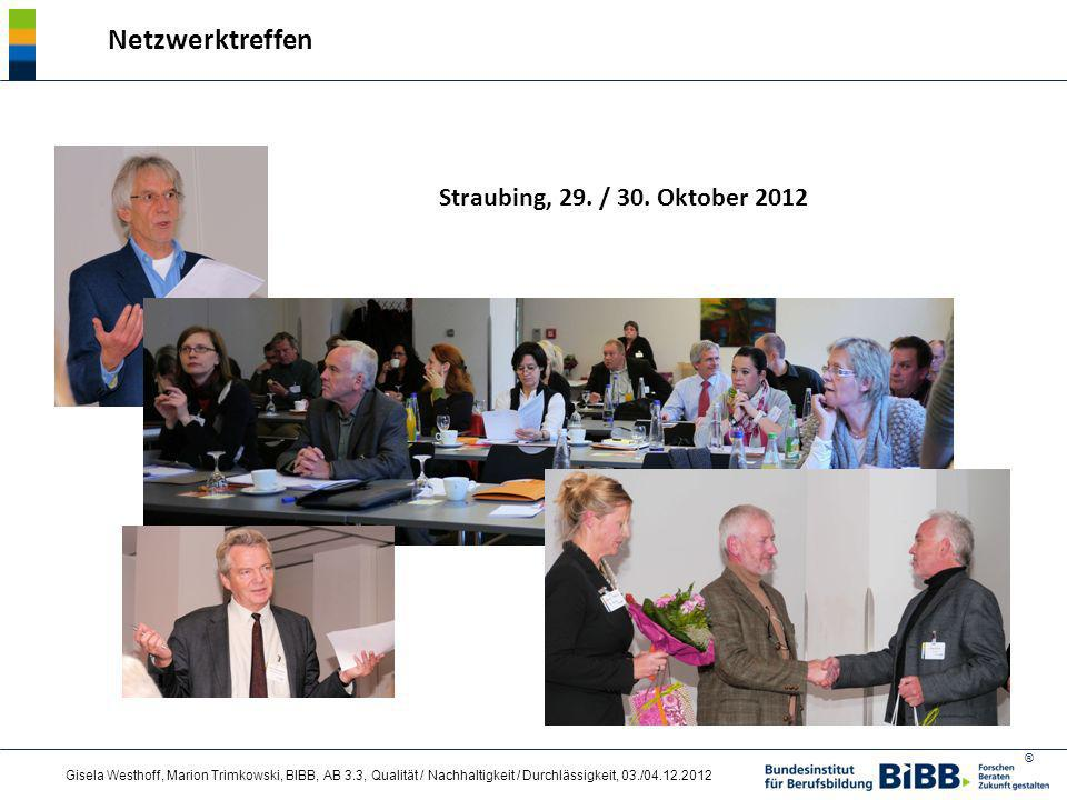 Netzwerktreffen Straubing, 29. / 30. Oktober 2012