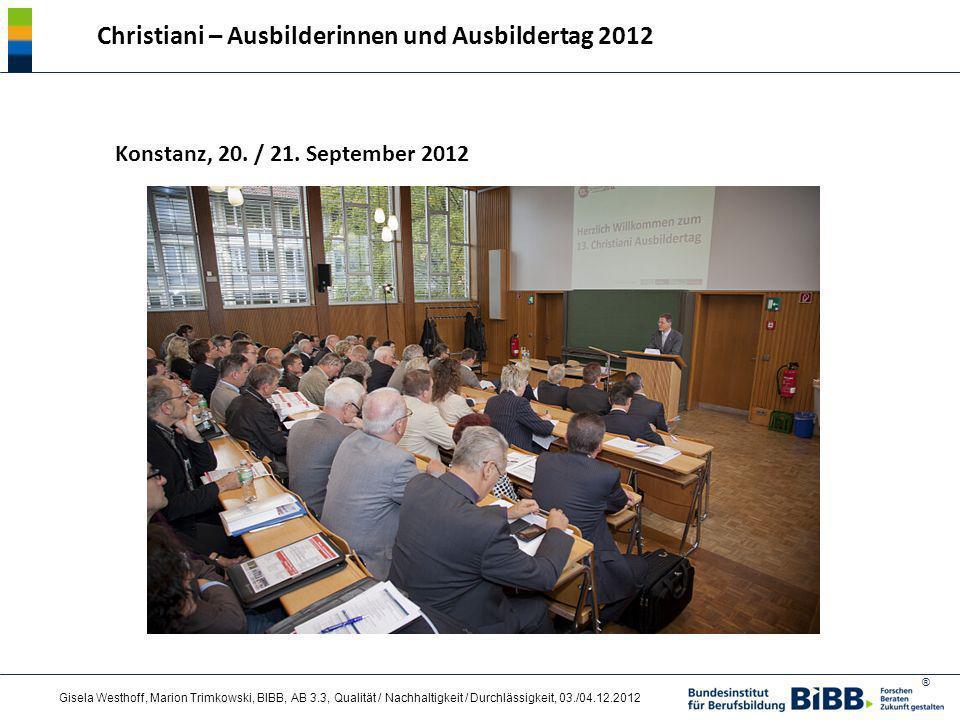 Christiani – Ausbilderinnen und Ausbildertag 2012