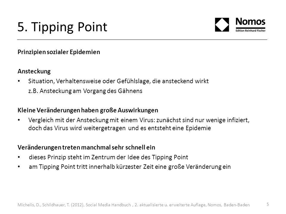 5. Tipping Point Prinzipien sozialer Epidemien Ansteckung