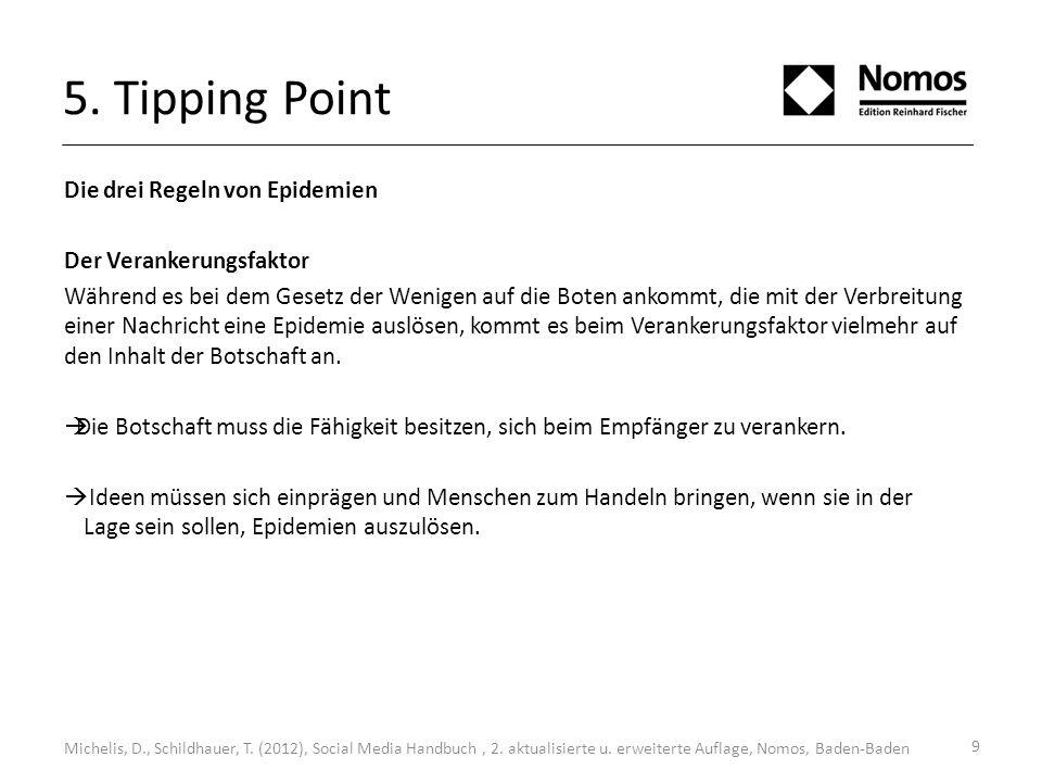 5. Tipping Point Die drei Regeln von Epidemien Der Verankerungsfaktor