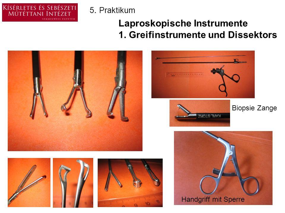 Laproskopische Instrumente 1. Greifinstrumente und Dissektors