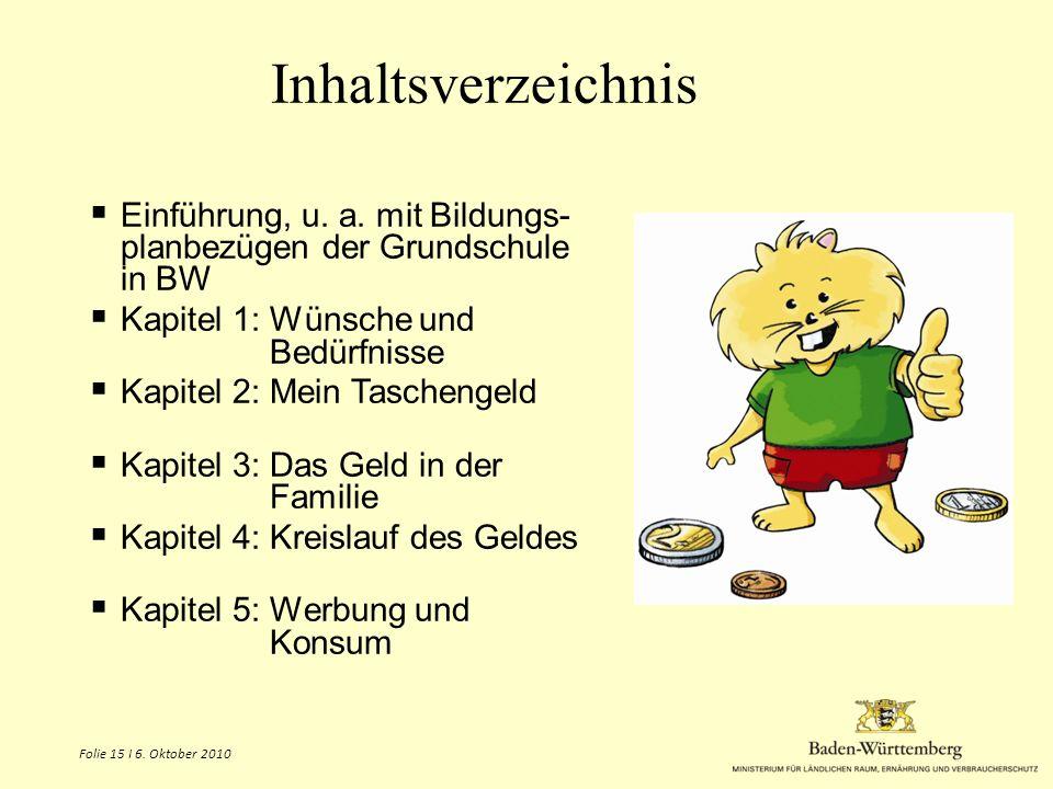 Inhaltsverzeichnis Einführung, u. a. mit Bildungs-planbezügen der Grundschule in BW. Kapitel 1: Wünsche und Bedürfnisse.