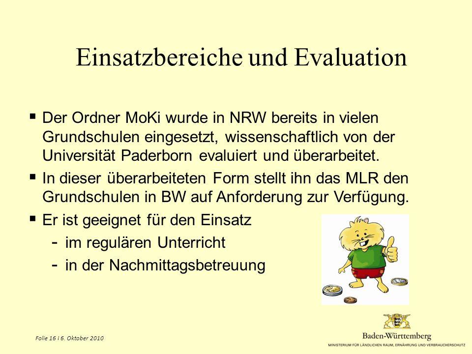 Einsatzbereiche und Evaluation