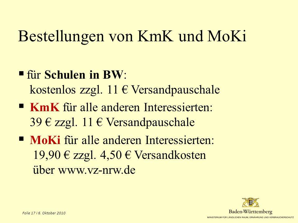 Bestellungen von KmK und MoKiie