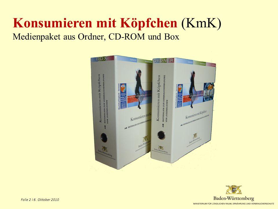 Konsumieren mit Köpfchen (KmK) Medienpaket aus Ordner, CD-ROM und Box