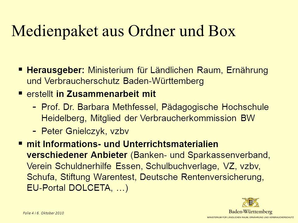 Medienpaket aus Ordner und Box