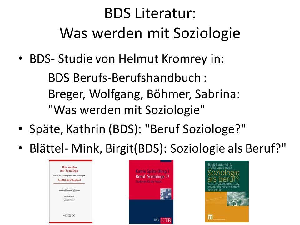 BDS Literatur: Was werden mit Soziologie