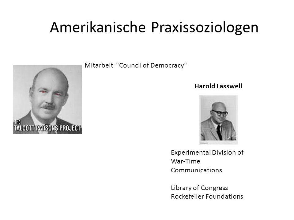 Amerikanische Praxissoziologen