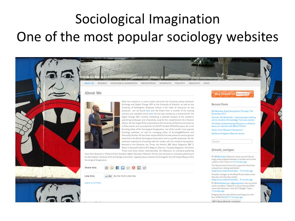 Sociological Imagination One of the most popular sociology websites
