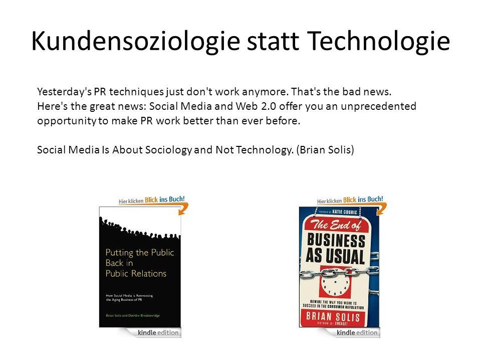 Kundensoziologie statt Technologie