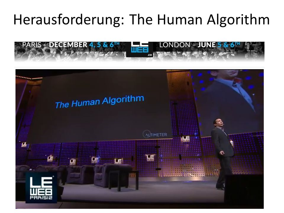 Herausforderung: The Human Algorithm