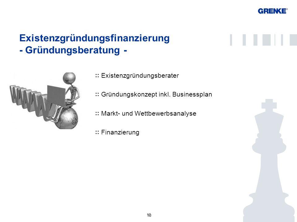 Existenzgründungsfinanzierung - Gründungsberatung -