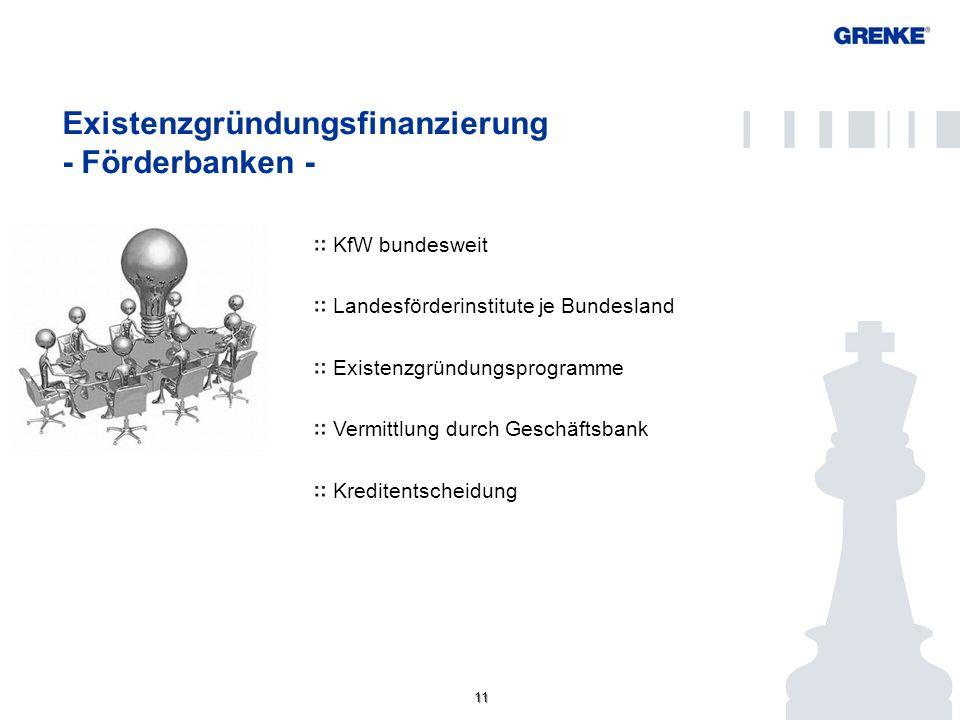 Existenzgründungsfinanzierung - Förderbanken -