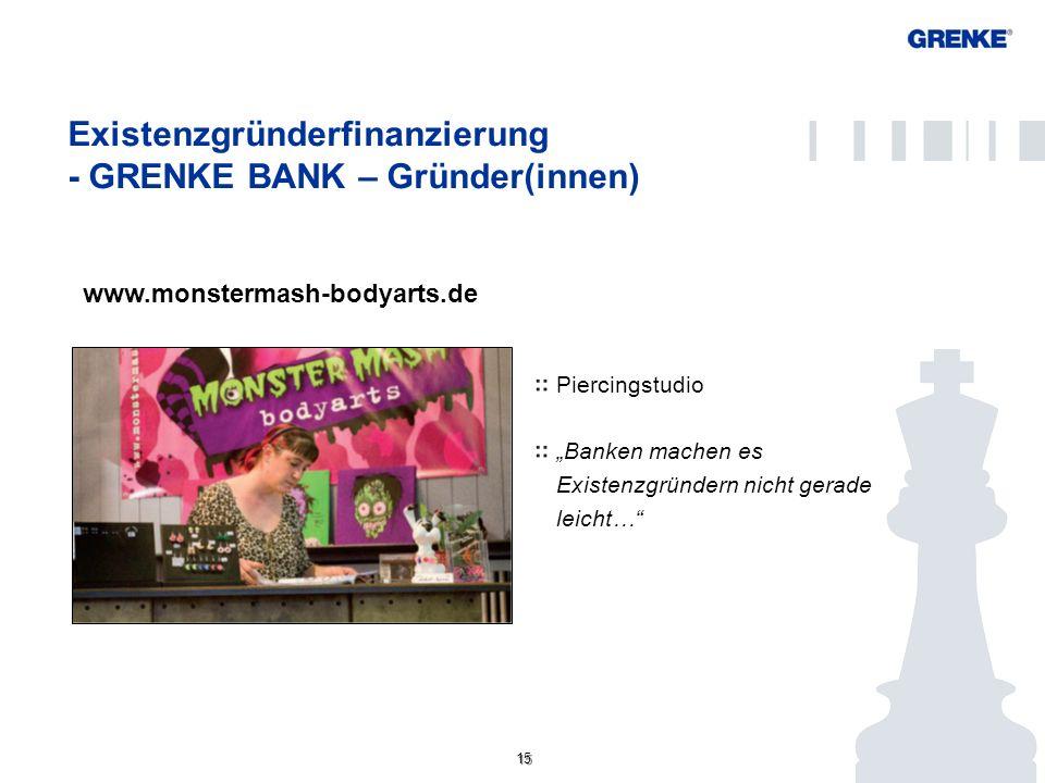 Existenzgründerfinanzierung - GRENKE BANK – Gründer(innen)