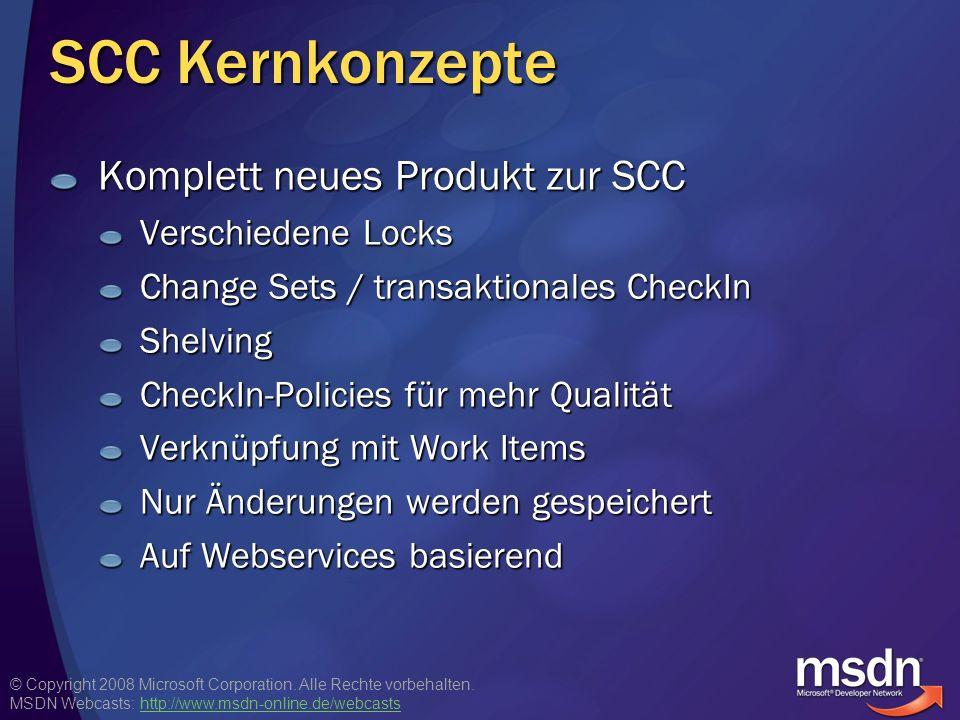 SCC Kernkonzepte Komplett neues Produkt zur SCC Verschiedene Locks