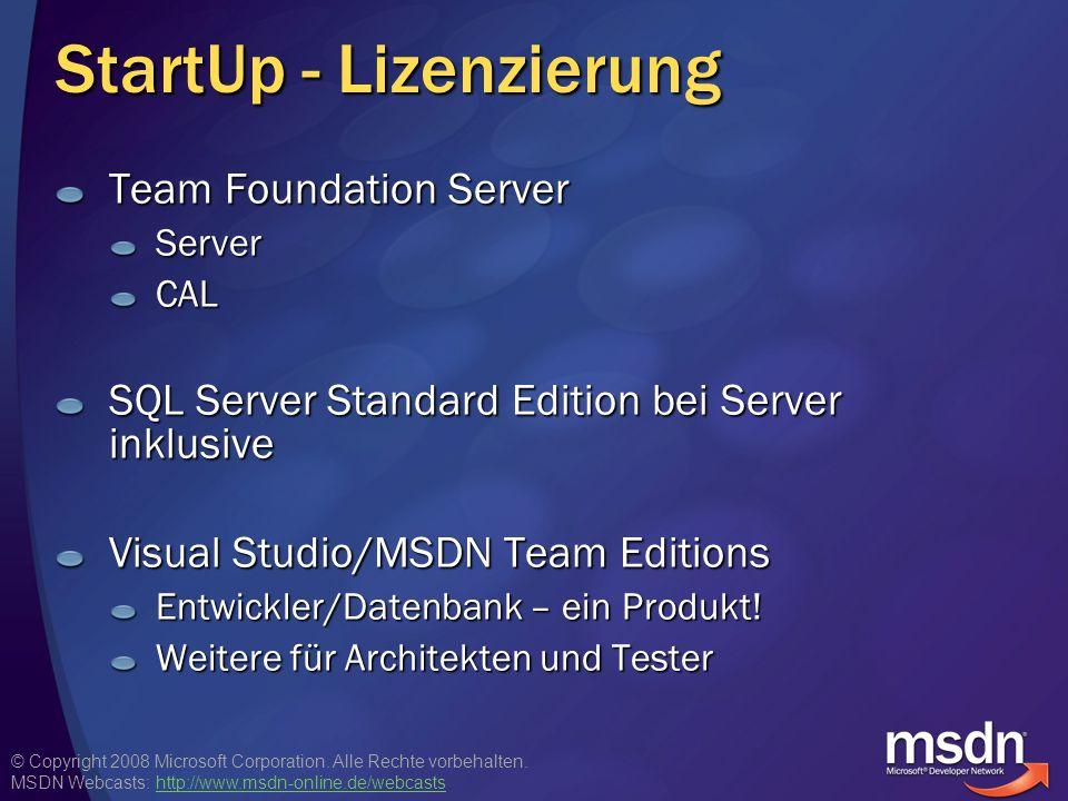 StartUp - Lizenzierung