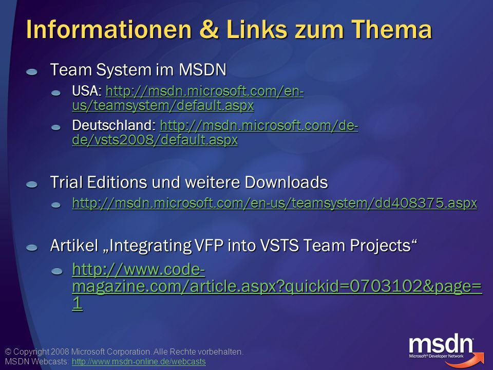 Informationen & Links zum Thema