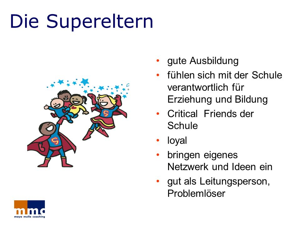 Die Supereltern gute Ausbildung