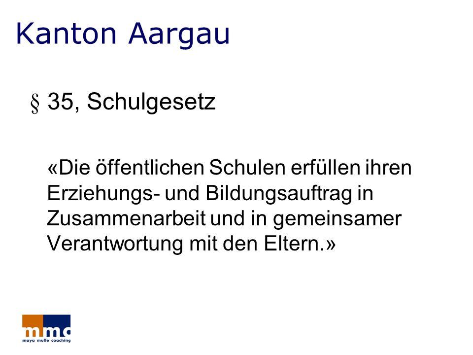 Kanton Aargau § 35, Schulgesetz