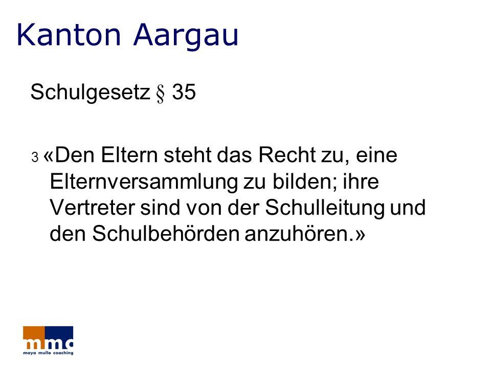 Kanton Aargau Schulgesetz § 35