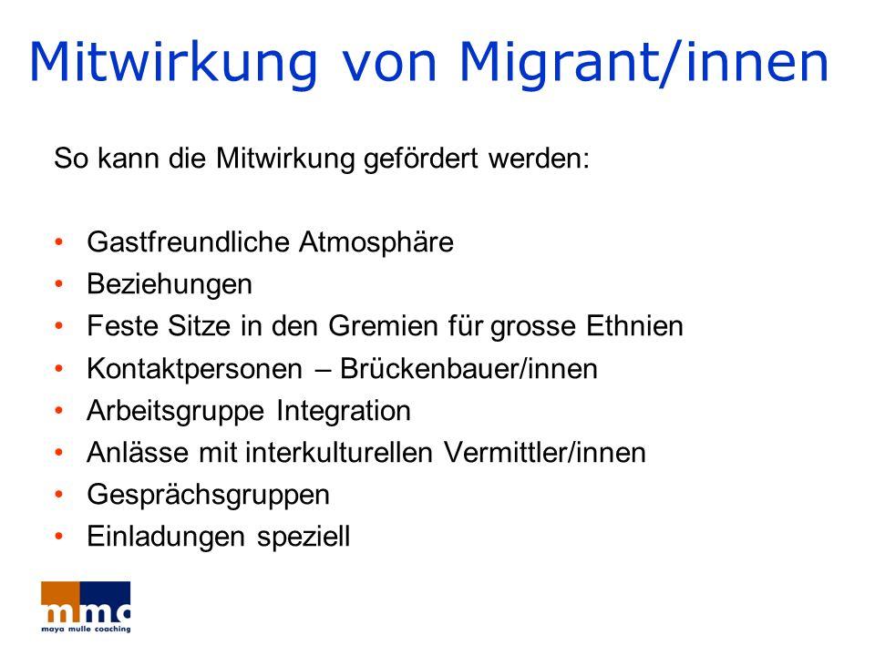 Mitwirkung von Migrant/innen