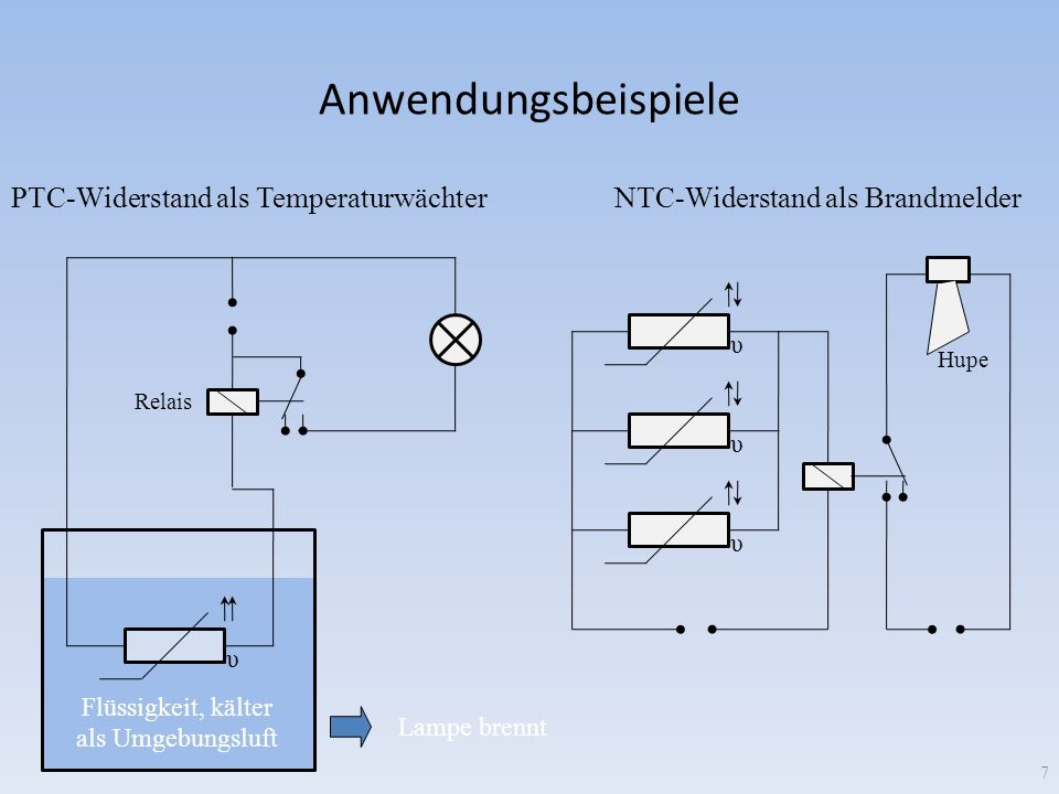 Anwendungsbeispiele PTC-Widerstand als Temperaturwächter