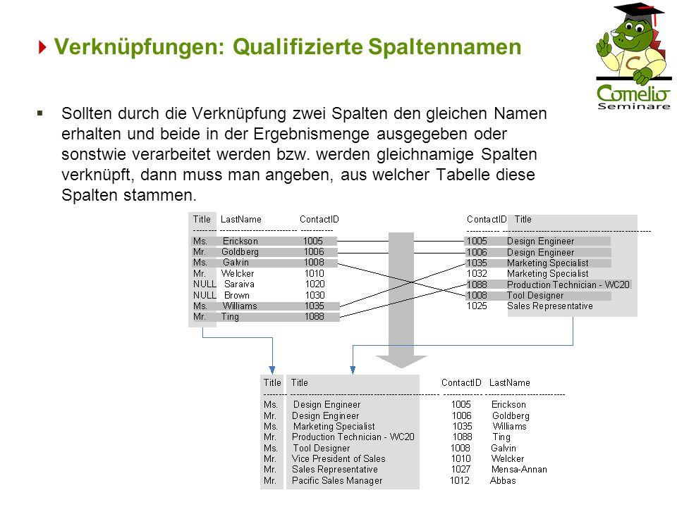 Verknüpfungen: Qualifizierte Spaltennamen