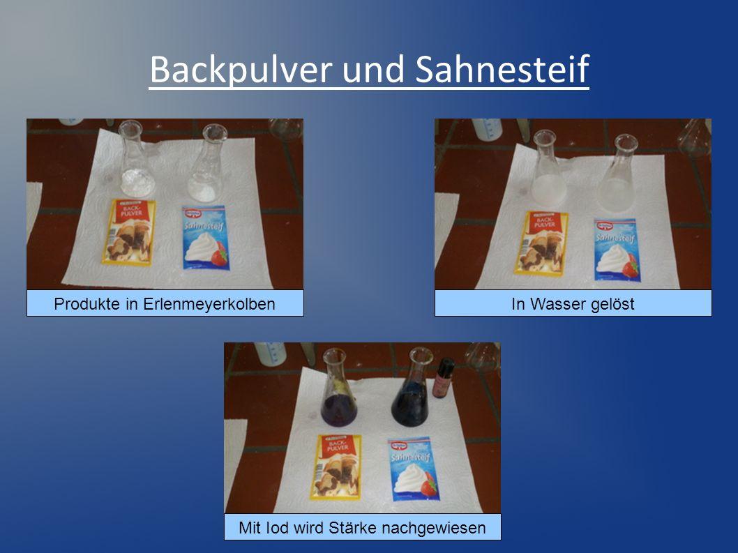 Backpulver und Sahnesteif