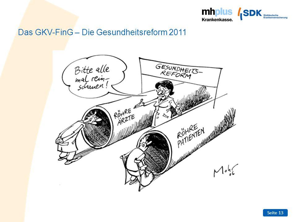 Das GKV-FinG – Die Gesundheitsreform 2011