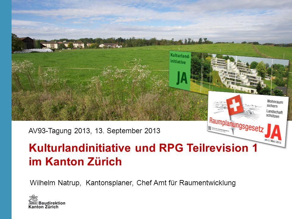 Kulturlandinitiative und RPG Teilrevision 1 im Kanton Zürich