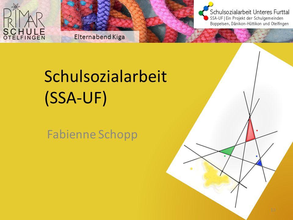 Schulsozialarbeit (SSA-UF)
