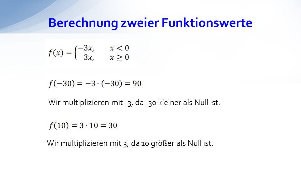 Berechnung zweier Funktionswerte