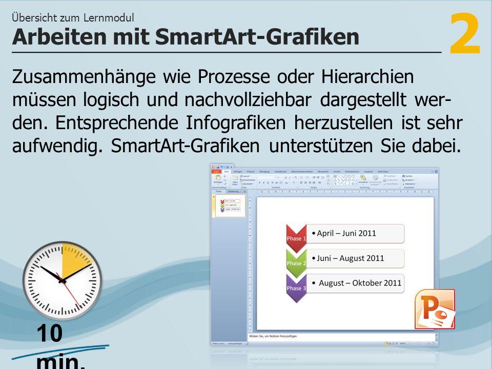 Arbeiten mit SmartArt-Grafiken