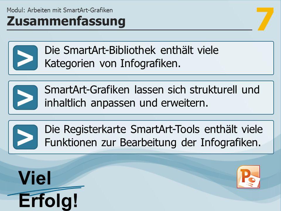 Modul: Arbeiten mit SmartArt-Grafiken