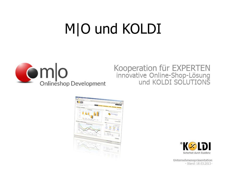 M|O und KOLDI Kooperation für EXPERTEN innovative Online-Shop-Lösung und KOLDI SOLUTIONS.