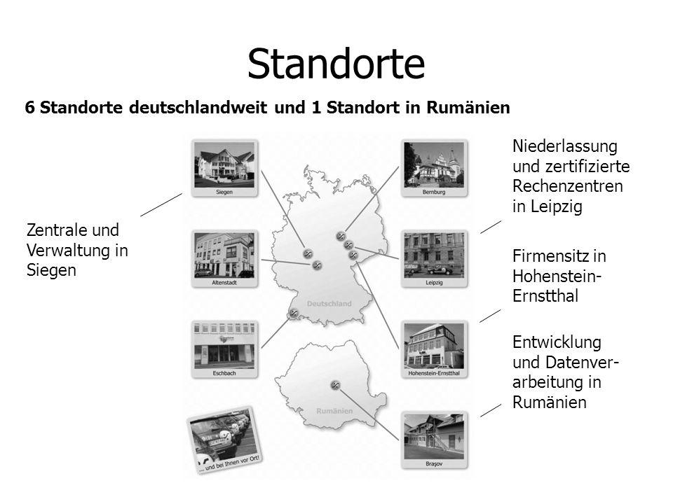 Standorte 6 Standorte deutschlandweit und 1 Standort in Rumänien