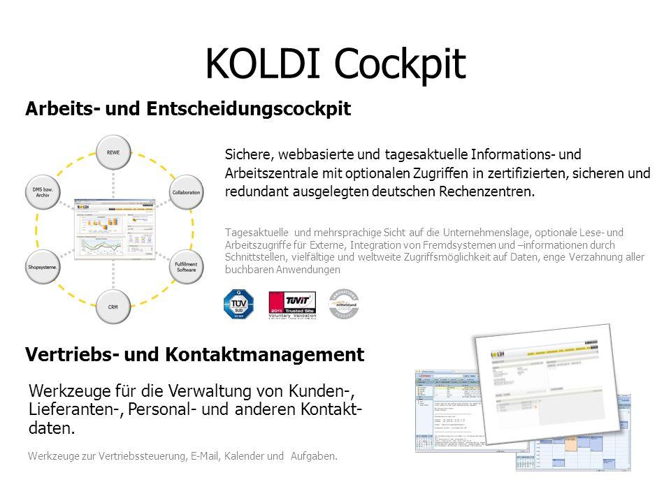 KOLDI Cockpit Arbeits- und Entscheidungscockpit