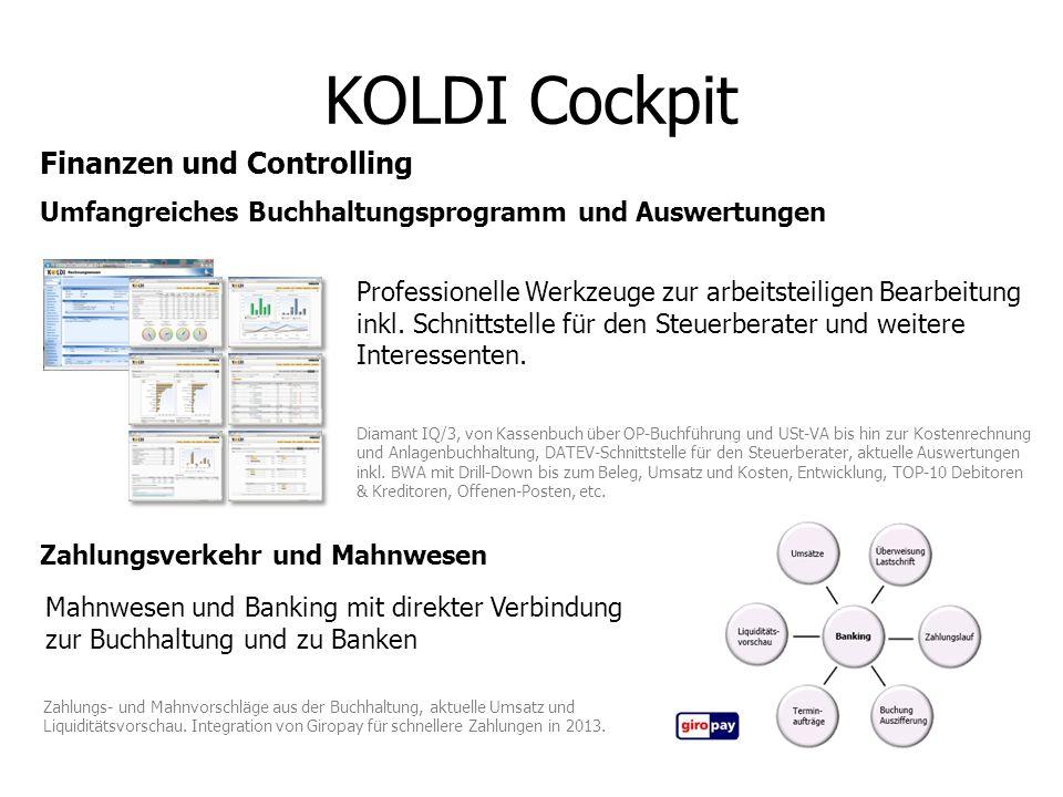 KOLDI Cockpit Finanzen und Controlling