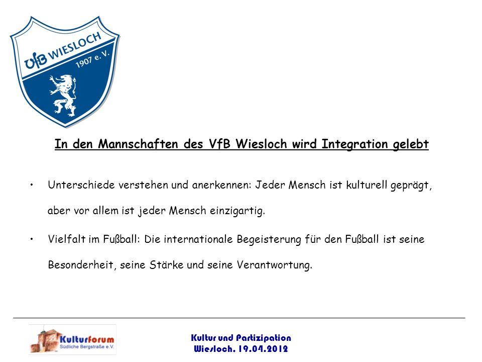 In den Mannschaften des VfB Wiesloch wird Integration gelebt